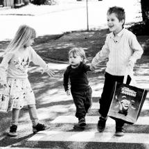 Moje deti cestou na krst